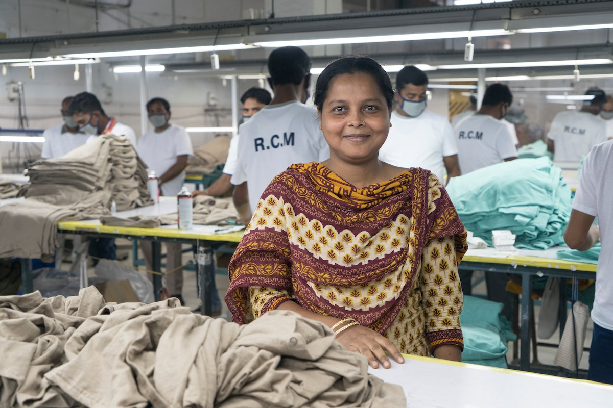 Factory Worker smiling