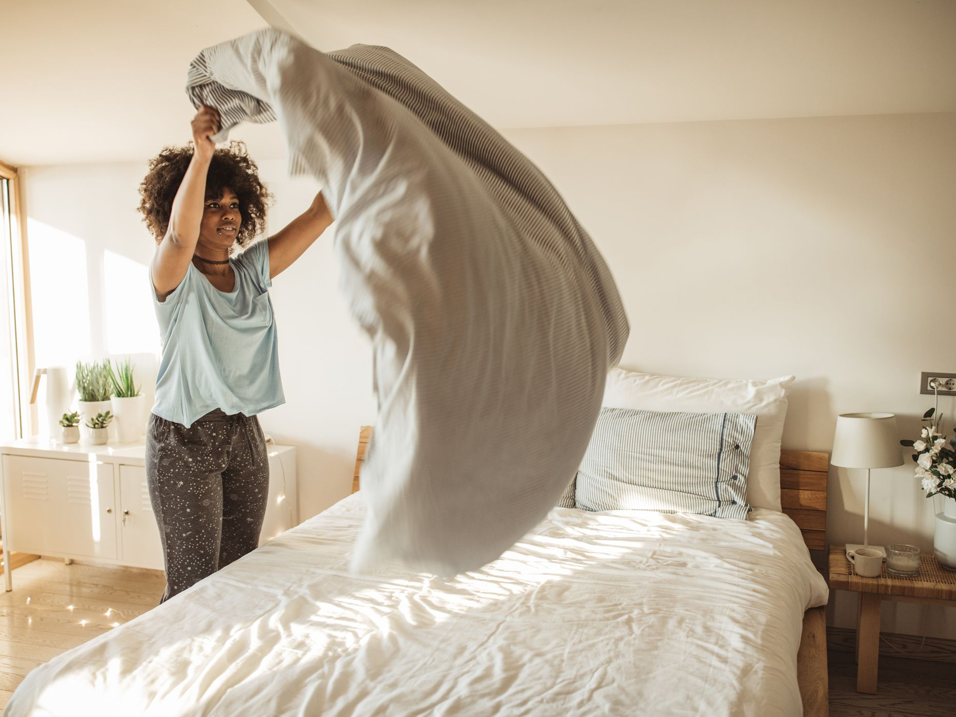 make your bed, morning routine