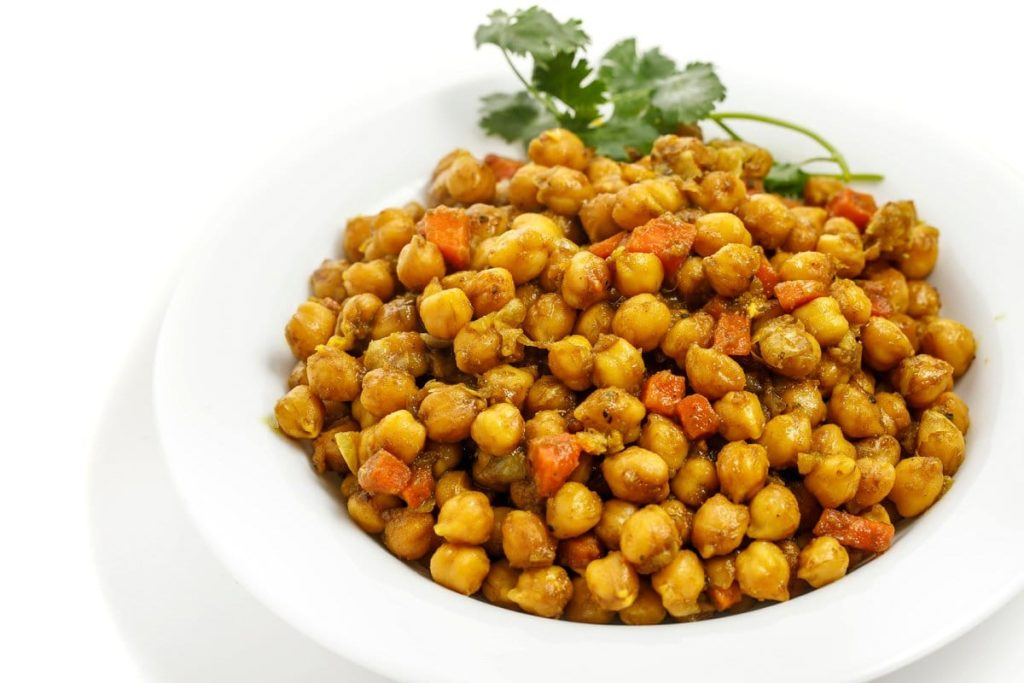 Curried Chick Peas Recipe