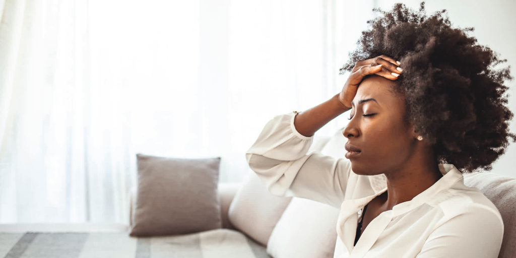 African American woman stressed